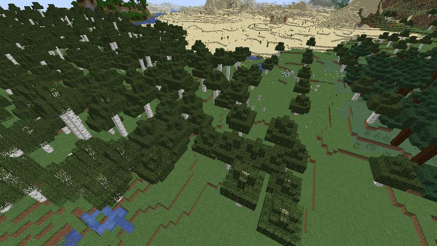 左: 巨大シラカバの丘陵 右: シラカバの森