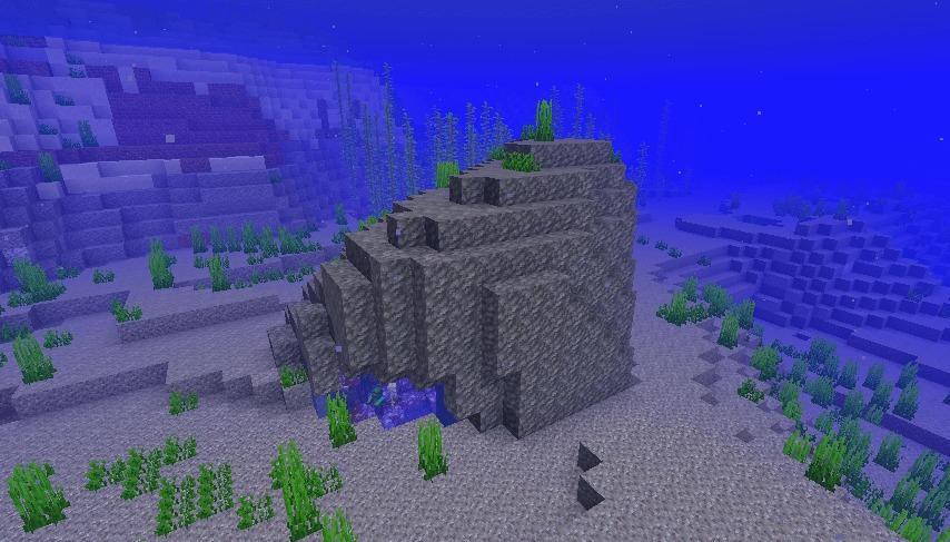 アメジストジオードが海に生成された例